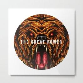 The Great Power Bear Metal Print