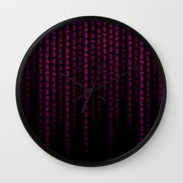 Hot Neon Pink Machix Datastream Code Wall Clock