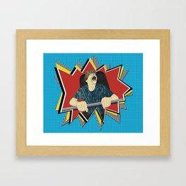 White knuckle roller coaster ride Framed Art Print