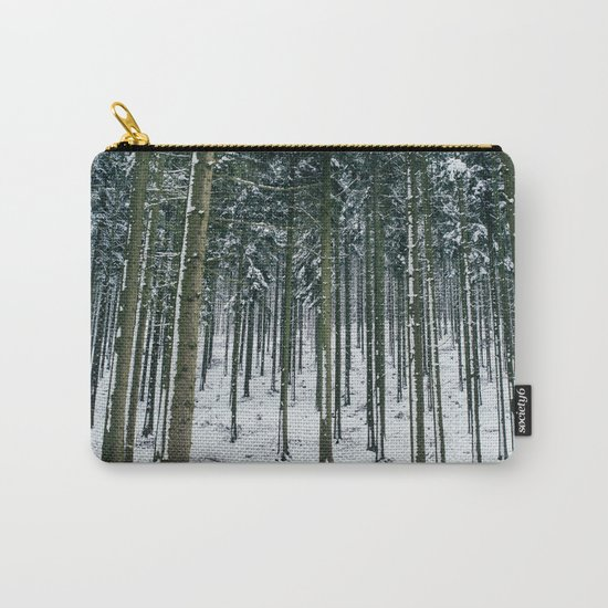 Winter Forest Treescape Carry-All Pouch