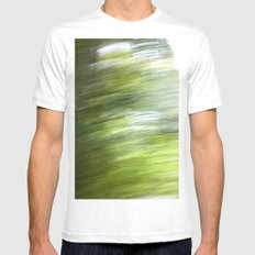 Rainy Day Motion 1 White Mens Fitted Tee MEDIUM