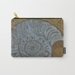 Ammonite in fossilized river bed Carry-All Pouch