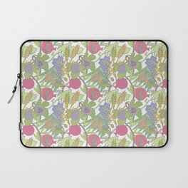 Seven Species Botanical Fruit and Grain with Pastel Colors Laptop Sleeve