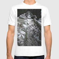 Villa Lante Water Chain Mens Fitted Tee MEDIUM White