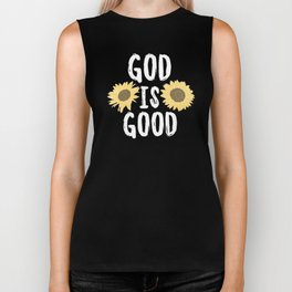 God is good Biker Tank