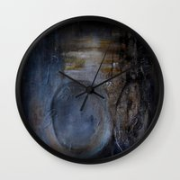 imagerybydianna Wall Clocks featuring myrrh by Imagery by dianna