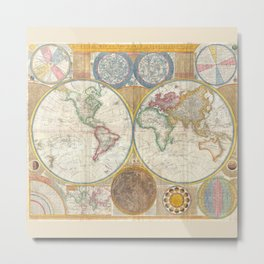 Map 1794 Laurie & Whittle Metal Print