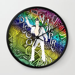 DISCO VAMPIRE HALLOWEEN OUTFIT Wall Clock