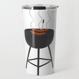 BBQ with sausages Travel Mug