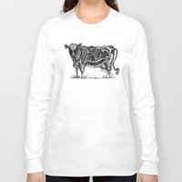 cow Long Sleeve T-shirts featuring Cow by Rebexi