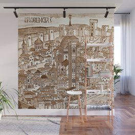 Florencia Sepia Wall Mural