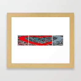 hearts layered Framed Art Print