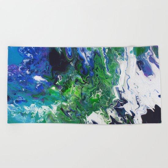 Arctic Moss Beach Towel