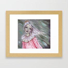 Her Golden Feathers Framed Art Print