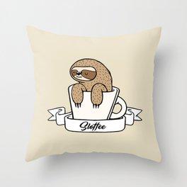 Sloffee Sloth Throw Pillow