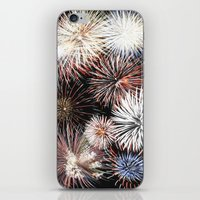 fireworks iPhone & iPod Skins featuring Fireworks by Urlaub Photography