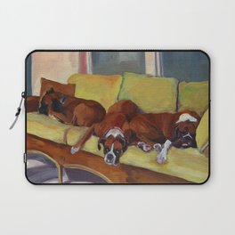 Boxer Dog Siesta Laptop Sleeve