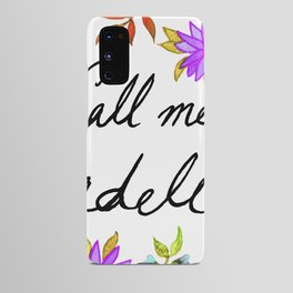 Call Me Cordelia - Purple Flowers Android Case