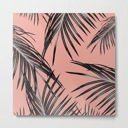 Black Palm Leaves Dream #5 #tropical #decor #art #society6 Metal Print