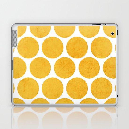 yellow polka dots Laptop & iPad Skin