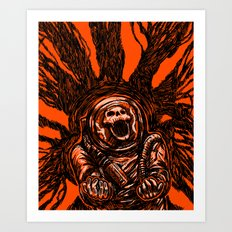 A Spacesuit Has Been Compromised Art Print