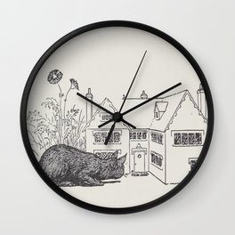 Johnny Crow's garden a picture book - L. Leslie Brooke - 1903 vintage Line Drawing Cat House Wall Clock