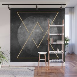 Gold Moon Geometric Tribal Design Wall Mural