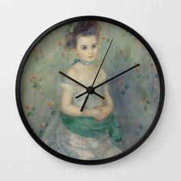 Portrait of Jeanne Durand-Ruel Wall Clock