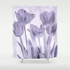 Tulips (b&w) Shower Curtain