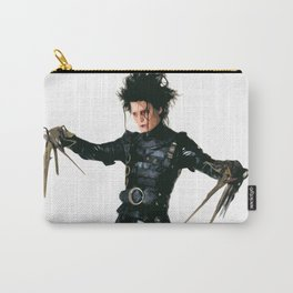 Edward Scissorhands Illustration Tim Burton Film Johnny Depp Movie Pop Art Horror Home Decor Carry-All Pouch