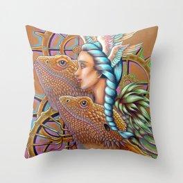DragonGears Throw Pillow