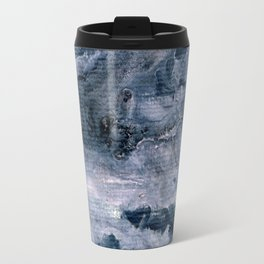 Pink & dark grey abstract I Travel Mug
