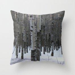 Whispering Aspen Throw Pillow