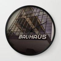 bauhaus Wall Clocks featuring Bauhaus by Nat Alonso