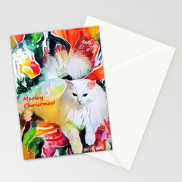 Meowy Christmas! Stationery Cards