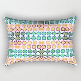 Spaced Aqua Rectangular Pillow