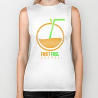 pocket fuel Biker Tanks featuring Fruit Fuel. by Novus.