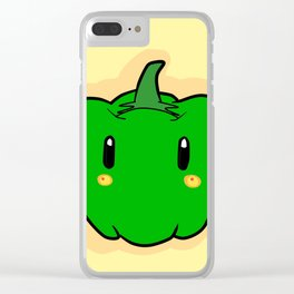 Benny Bellpepper Clear iPhone Case