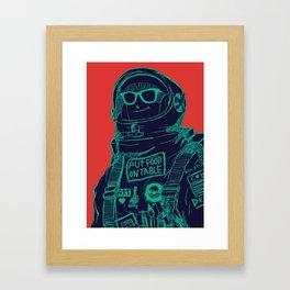 Ratter live outer space Framed Art Print