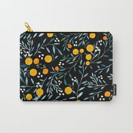 Oranges Black Carry-All Pouch