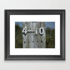 4-10 Framed Art Print