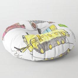 Construction Frenzy Floor Pillow