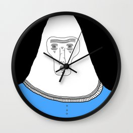 ugly people2 Wall Clock
