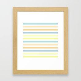 Horizontally striped , pastel 3 Framed Art Print