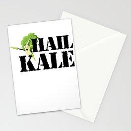 Hail Kale Kale Art for Vegans Vegetarians on Diet Light Stationery Cards