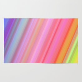 Abstract Neon Lights Colors Rug