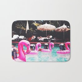 Flamingo Beer Races at the Chateau Marmont Bath Mat