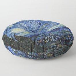 Starry Night by Vincent van Gogh Floor Pillow