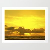 sunset in Croyde... Art Print