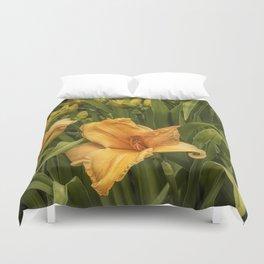Orange Daylilies Duvet Cover
